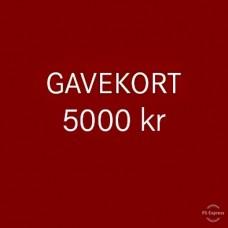 Gavekort 5000 kr
