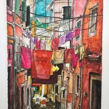 Klesvask og handletur i gamlebyen