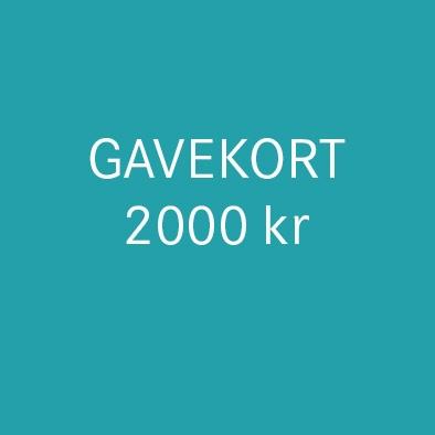 Gavekort 2000 kr