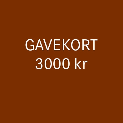 Gavekort 3000 kr